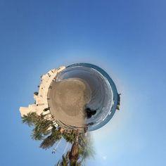 #rollworld #sea #shore #edit #panorama #miniglobe #castle