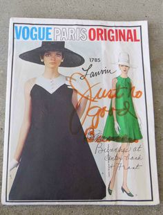 Vintage 1960s Vogue Paris Original  Dress Pattern  Lanvin 32