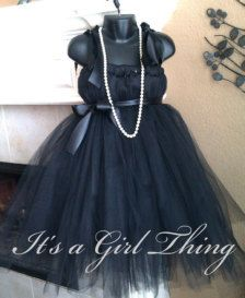 Black Tutu Dress @Allison Rice Martin I could totally make these, maybe with red ribbon?!