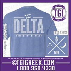 TGI Greek - Delta Delta Delta - Comfort Colors - Sorority Pr - Greek T-shirt #tgigreek #deltadeltadelta