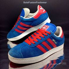 adidas Originals Gazelle Trainers Blue/Red size 7 Mens Sneakers US 7.5 EU 40 2/3 in Clothes, Shoes & Accessories, Men's Shoes, Trainers | eBay