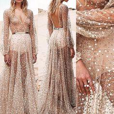 Women Long Boho Sexy Maxi Evening Party Dress Chiffon Dress Summer Beach Dresses…