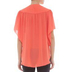 Camisa borboleta coral