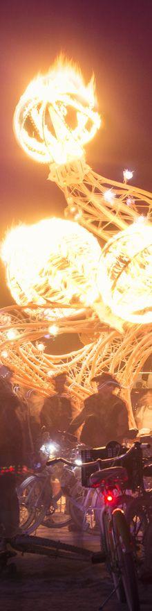 Flaming Lotus Girls - Burning Man 2013 - Photography by Cliff Baise