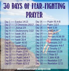 30 days of fear-fighting prayer: