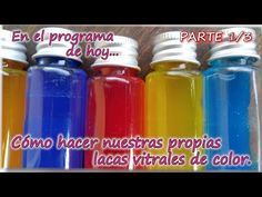 COMO FABRICAR NUESTRA PROPIA LACA VITRAL DE COLOR Parte 1-3 - YouTube Mirror Cup, Easy Crafts, Diy And Crafts, Glue Art, Cute Diy Projects, Dyi, Stained Glass Art, Cold Porcelain, Diy Painting