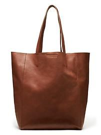 The perfect leather tote   Banana Republic