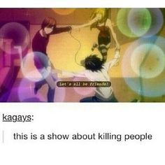 This is a show about killing people