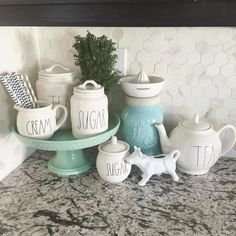 The sweet hosts of #MyHouseFavorites are asking to see our favorite #vingette for the last week of this fun hashtag! Well I love this little corner of our kitchen It is the keeper of some of my #raedunnclay goodies and we can never have too many of those by peachesandpaisleys