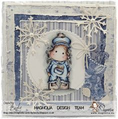 Morning everyone, I am here today with the card that I have for our August challenge at TOMIC , the theme there is Christmas in August! Christmas Time, Xmas, August Challenge, Magnolia Stamps, Easel Cards, Having A Baby, Baby Cards, Birthday Presents, Wonderful Time