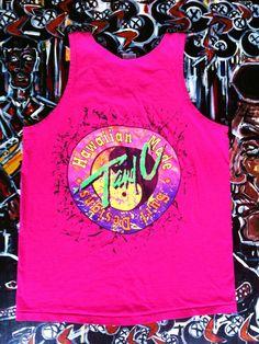 Vintage 80's T&C Surf Designs Neon Tank Top by ElliottBayVintage