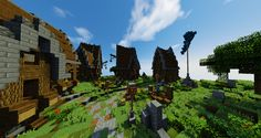 Amazing village on the Creative experience. Screenshot taken by the player: SeanBreen97