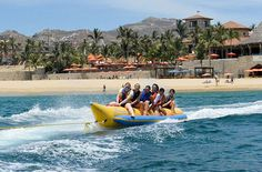 Checking out the scenery in Cabo San Lucas #Mexico on a banana boat tour. #travel #activities