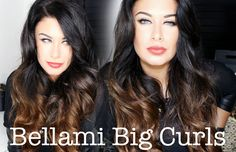 Bellami Hair extensions tutorial Lilly Hair BIG HAIR - How to create Big Curls like Lilly Ghalichi #bellamihair #hairextensions #curledhair #bellami