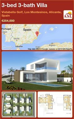 3-bed 3-bath Villa in Vistabella Golf, Los Montesinos, Alicante, Spain ►€254,000 #PropertyForSaleInSpain
