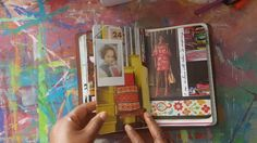 [Love her use of Magazine images of rooms and stuff we all love to drool over as Graphic Eye Candy.... Use em in your Art Journals... Brilliant!] Junk Journal In Use || Documenting January 2017