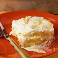 Grandma's Orange Rolls with Orange Cream Cheese Frosting Orange Cinnamon Rolls, Orange Rolls, Orange Recipes, Citrus Recipes, Entree Recipes, Apple Recipes, Yummy Recipes, Sour Cream Pound Cake, Deserts
