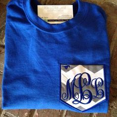 Monogrammed Tees are the perfect warm weather accessory! Lots of colors! We love the Royal Blue for our beloved UK Wildcats!! Look cute while showing your initials! Super Soft and Comfy and oh so Stylish!
