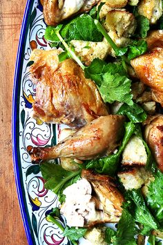 zuni cafe's roast chicken. we make ina's roast chicken once a week but hers takes 1.5 hours to cook and this takes 45 mins... must try!