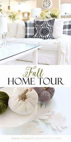Welcome to our fall home tour. This year our decor is a combination of black…