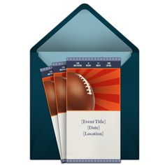"""Free football party invitation with a """"football ticket"""" design. Love this design for Super Bowl parties and tailgate parties."""