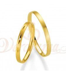 Βέρες γάμου χρυσές με διαμάντι breuning 4331-4332