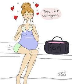 ... de la valise de maternité pur moment de bonheur # illustration