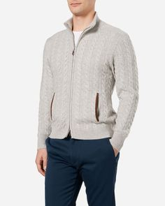 The Richmond Cable Cashmere Cardigan