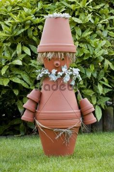 flower pot decorations | Garden decoration, imp made of flower pots - Download People