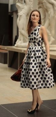 Who made Leighton Meester's polka dot dress that she wore in Gossip Girl?