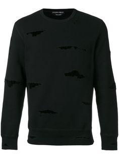 Shop Alexander McQueen ripped detail sweatshirt.