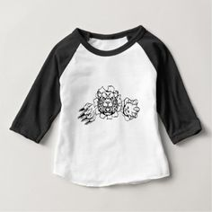 Wildcat Holding Bowling Ball Breaking Background Baby T-Shirt - cat cats kitten kitty pet love pussy