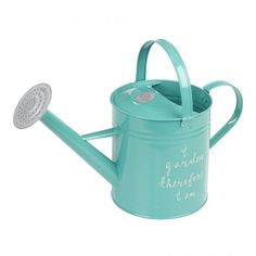 Get in touch with your philosophical side while pottering around the garden with the colourful and creative typography of the Watering Can from The Thoughtful Gardener. Herb Pots, Pot Sets, Dot And Bo, Galvanized Steel, Watering Can, Tiffany Blue, Garden Tools, Garden Ideas, Outdoor Gardens