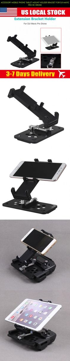 Accessory Mobile Phone Tablet Mount Holder Bracket For DJI Mavic Pro RC Drone #fpv #racing #kit #products #pro #dji #technology #shopping #camera #drone #accessories #mavic #tech #parts #plans #gadgets
