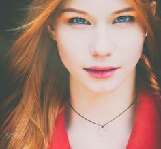 Девушка - Рыжая девушка