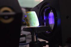 Amber of Chiapas illuminated at 360 nm, at room conditions.—Rafael Espinosa-Luna, GIPYS-Centro de Investigaciones en Óptica, A. C.  - See more at: http://www.osa-opn.org/home/gallery/