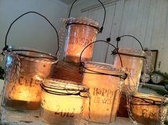 canning jar luminaries
