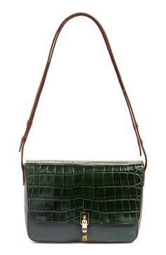 31e9b7f32e0 Elizabeth and James 'Cynnie' Croc Embossed Leather Shoulder Bag | Nordstrom