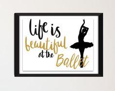 Digital prints ballet quotes quote prints by SansSouciPrintables