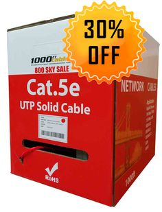 COPPER 24 AWG Cat 5 Cable rated at 350Mhz *NOT CC A* Cat5e Patch Cord Ethernet