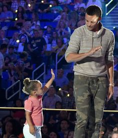 Too Cute! Stephen Curry's Daughter Riley Loves His Kids' Choice Sports Award Win