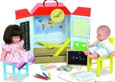 Petitcollin France Play School Playset + 2 Dolls Organic Cotton NIB Vilac Lot  #VilacPetitcollin