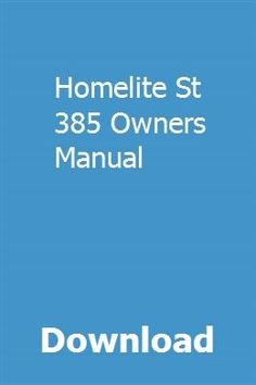 740 best owners manual images on pinterest messages positive download homelite st 385 owners manual pdf homelite st 385 owners manual download pdf fandeluxe Images