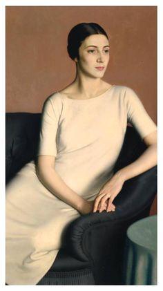 "particolare ""Marguerite Kelsey"" 1928 olio su tela (120,8x141,2) Meredith Frampton (Londra 1894 - 1984) The TATE Gallery, London"