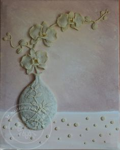 Textured sculpted 3D painting - tableau en relief