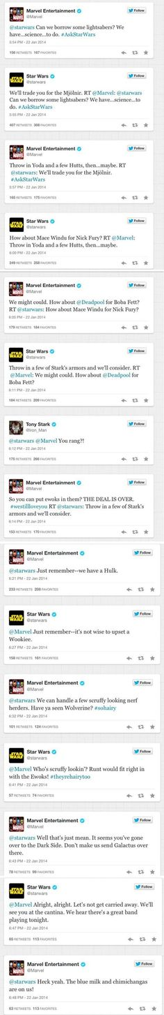 Star Wars and Marvel being awesome