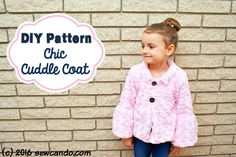 Sew Can Do: DIY Pattern: Chic Cuddle Coat in Rose Cuddle Baby Pink - http://www.shannonfabrics.com/index.php?main_page=product_info&cPath=968_974&products_id=1229 tutorial by @sewcando