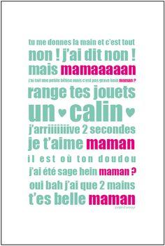 Image of Mini affiche pour la fête des mères