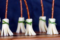 Easiest, Greatest Witchy Appetizer EVA — Sorcerer's Brooms! {Kids love 'em.}