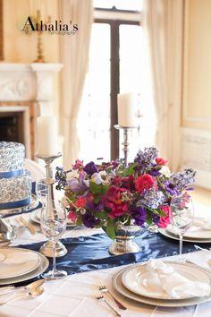Budget Royal wedding table decor
